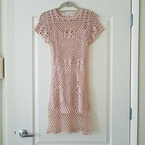 252174a6 Zara Dresses | Womens Bundle Knit Crochet Dress | Poshmark
